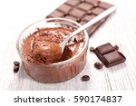 chocolate mousse | Shutterstock . vector #590174837