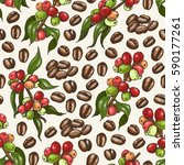 vector pattern with coffee | Shutterstock .eps vector #590177261