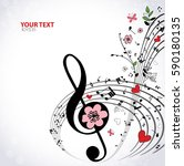 spring musical background with... | Shutterstock .eps vector #590180135