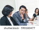 asian business people meeting... | Shutterstock . vector #590183477