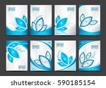 business vector set  brochure... | Shutterstock .eps vector #590185154