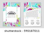 abstract vector layout... | Shutterstock .eps vector #590187011