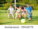 boys and girls running towards... | Shutterstock . vector #59018779