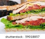 sandwich   chicken  cheese and...   Shutterstock . vector #59018857