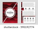 abstract vector layout... | Shutterstock .eps vector #590192774