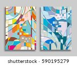 abstract composition geometric... | Shutterstock .eps vector #590195279