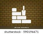 bricks icon vector illustration ... | Shutterstock .eps vector #590196671