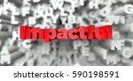 impactful    red text on... | Shutterstock . vector #590198591