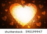 dark red  yellow heart isolated ... | Shutterstock .eps vector #590199947