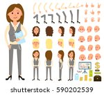 businesswoman character... | Shutterstock .eps vector #590202539