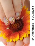 nail art. female nails with