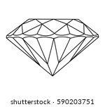 gemstone vector icon faceted... | Shutterstock .eps vector #590203751
