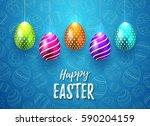 happy easter vector typography... | Shutterstock .eps vector #590204159