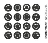progress indicator icon set in... | Shutterstock .eps vector #590218241