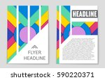 abstract vector layout... | Shutterstock .eps vector #590220371