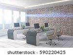 office interior. 3d illustration | Shutterstock . vector #590220425