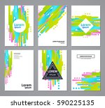 set of abstract geometric... | Shutterstock .eps vector #590225135