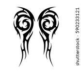 tribal designs. tribal tattoos. ... | Shutterstock .eps vector #590233121
