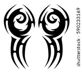tattoo tribal vector designs... | Shutterstock .eps vector #590233169