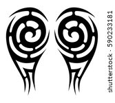 tribal designs. tribal tattoos. ... | Shutterstock .eps vector #590233181