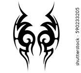 tribal designs. tribal tattoos. ... | Shutterstock .eps vector #590233205