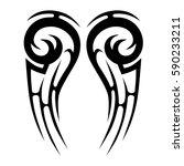 tattoo tribal vector designs... | Shutterstock .eps vector #590233211