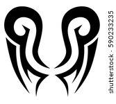 Tattoo tribal vector designs. Tribal tattoos. Art tribal tattoo. Vector sketch of a tattoo. Idea for design.   Shutterstock vector #590233235