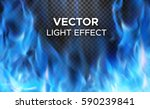 burning fire flames on... | Shutterstock .eps vector #590239841