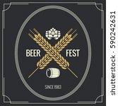 beer vintage label design... | Shutterstock .eps vector #590242631