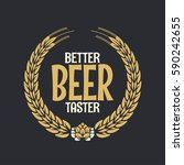 beer label reward logo on dark... | Shutterstock .eps vector #590242655