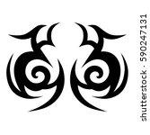 tattoo tribal vector designs.... | Shutterstock .eps vector #590247131