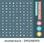 food icon set clean vector   Shutterstock .eps vector #590248595
