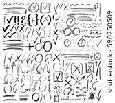 hand drawn sketch black marker  ... | Shutterstock . vector #590250509