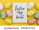 seasonal easter message with... | Shutterstock . vector #590251721