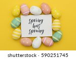 seasonal easter message with... | Shutterstock . vector #590251745