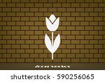 vector illustration of tulip ...