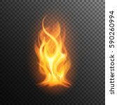 realistic burning fire flame ...   Shutterstock .eps vector #590260994