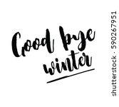 good bye winter postcard. hand... | Shutterstock .eps vector #590267951