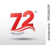 72 years anniversary... | Shutterstock .eps vector #590269109