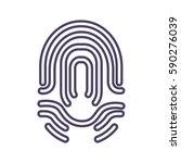 icon fingerprint | Shutterstock .eps vector #590276039