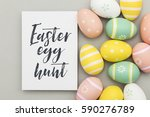 seasonal easter message with... | Shutterstock . vector #590276789