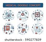doodle vector illustrations of... | Shutterstock .eps vector #590277839