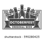 beer pub vintage isolated label ... | Shutterstock .eps vector #590280425