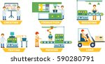 industrial manufacture set... | Shutterstock .eps vector #590280791