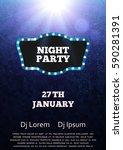 night party flyer template.... | Shutterstock .eps vector #590281391