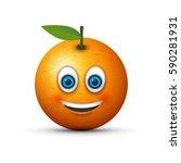 smiling orange | Shutterstock .eps vector #590281931