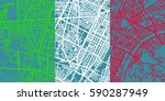 detailed vector map of torino... | Shutterstock .eps vector #590287949