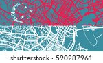 detailed vector map of... | Shutterstock .eps vector #590287961