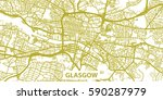 detailed vector map of glasgow... | Shutterstock .eps vector #590287979