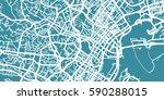 detailed vector map o singapore ... | Shutterstock .eps vector #590288015